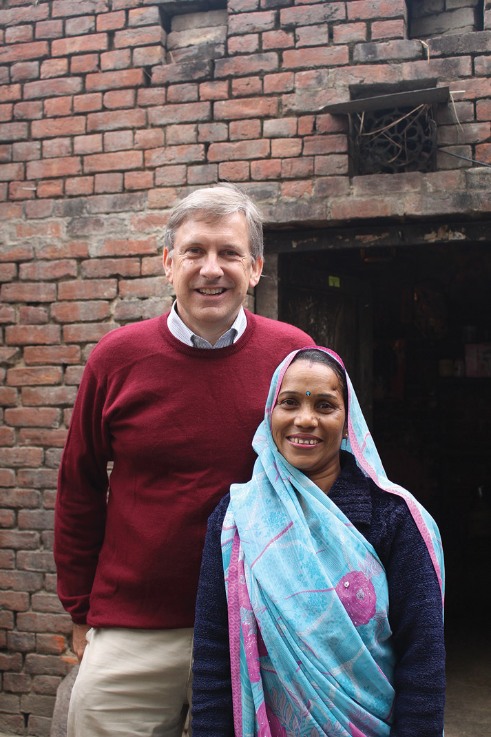 Robert Dunn with a client ourside of Jakarta, Indonesia