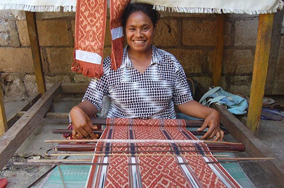 Nanomi used a small loan to start her own weaving business, giving her the income she needed to provide for her children.